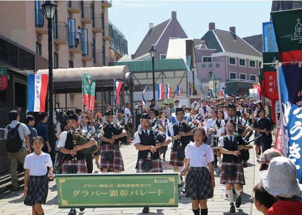 2019 長崎居留地まつり / ラバー顕彰パレードで祭りがスタート!