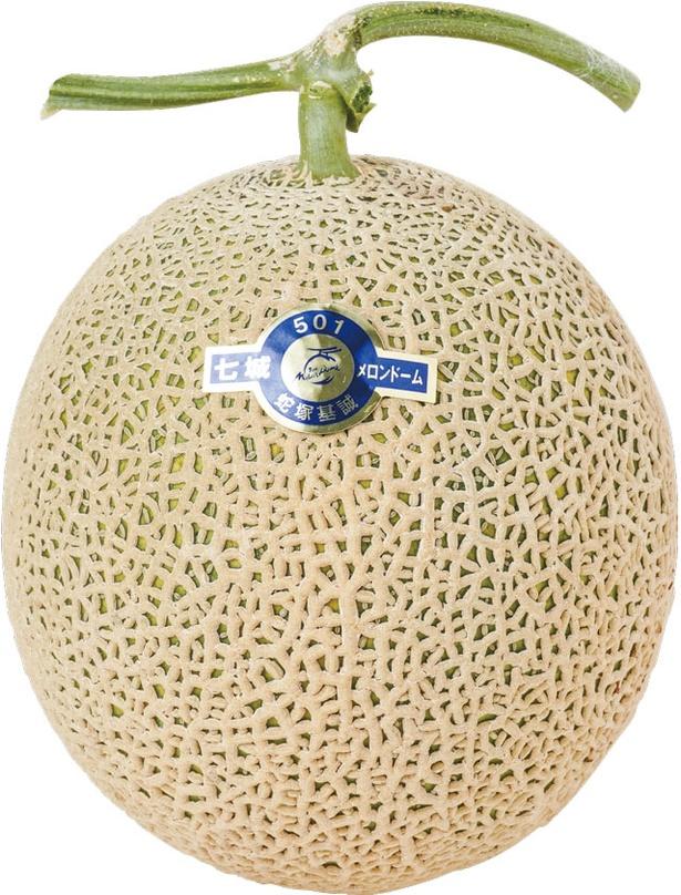 7~12月は柔らかい果肉が特徴の「アールスメロン」(時価)が旬 / 道の駅 七城メロンドーム