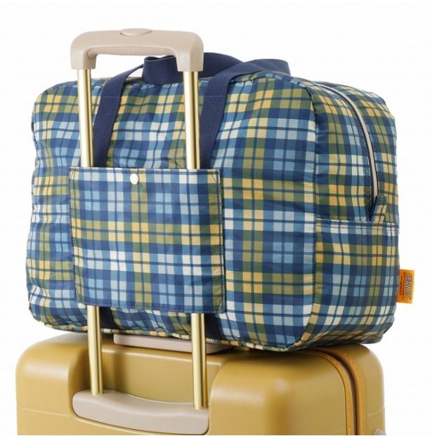 スーツケースの持ち手部分にセットアップできる