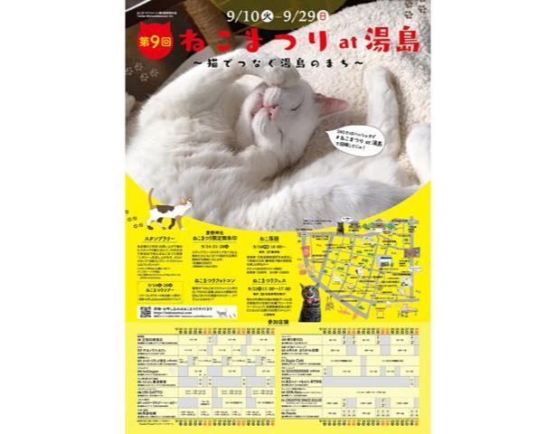 毎年2月と9月の年2回、20日間にわたって文京区湯島地域にて行われる「ねこまつり」
