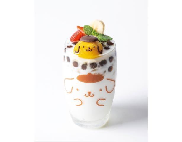 グラスのポムポムプリンまでかわいい「もちプル食感!タピオカ杏仁チェー」