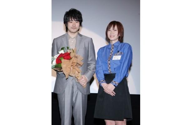 宮崎県で行われた『GANTZ』の大ヒット御礼舞台挨拶に登壇した松山ケンイチ