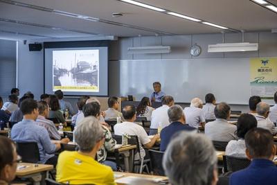 鶴見川や大岡川など、横浜市民に身近な川に関するエピソードに受講者たちは熱心に耳を傾けた