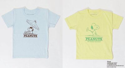 「【BURNER×PEANUTS】スヌーピー 別注 半袖プリント キッズTシャツ」(各4860円)※サイズ:110、120、130