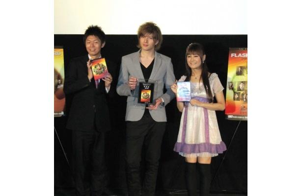 イベントに登場した島田秀平、城田優、椿姫彩菜(写真左から)