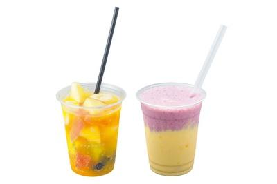 スムージー mix(750円・右)、 フルーツポンチ no  alcohol(630円・左)/ソソルフルウツ