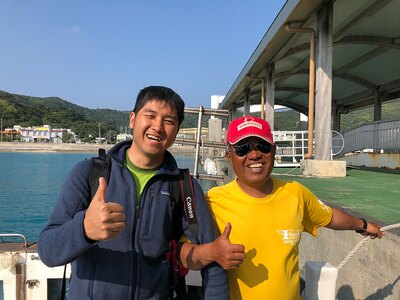 笑顔が眩しいという言葉がぴったりの清さん(左)。一緒にいるだけで元気が出てきます