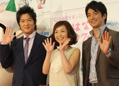 2月9日(水)、六本木ヒルズに内にオープンする、花粉症対策レストラン「はなはな(花鼻)ダイニング」のオープニングイベントが行われ、スペシャルゲストとして、今月2日に元シェイプUPガールズのタレント、三瀬真美子さんとの結婚を発表したばかりの俳優・細川茂樹さんが出席(写真左)