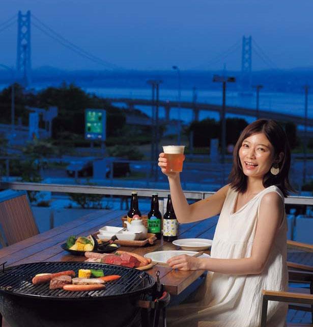 ビアガーデンは明石海峡が望めるテラス席で/BBQ house MOSTAJI