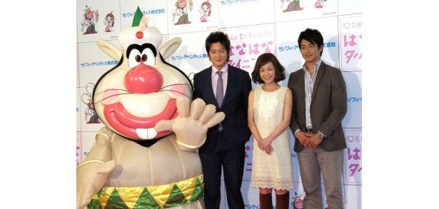 イベントに出席した細川茂樹、はしのえみ、有馬隼人(写真左から)
