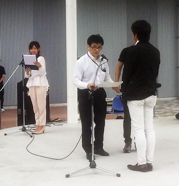 堺警察署からテロ対策訓練に対する感謝状が、同モールに授与された