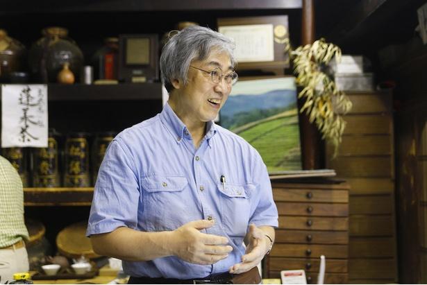 大学卒業後、宇治の茶業研究所へ研修に通ったという安盛さん。当時、茶商で研修を受けたのは安盛さんが初めてだったそう