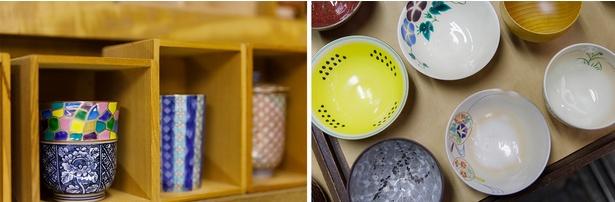 店内には様々な色や形の茶器も並ぶ