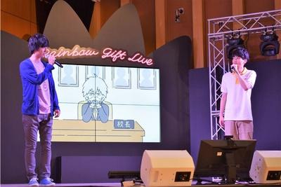 「あさやけレンジャーズ」としてお笑いアテレコを披露した草野太一さんと、坂田将吾さん
