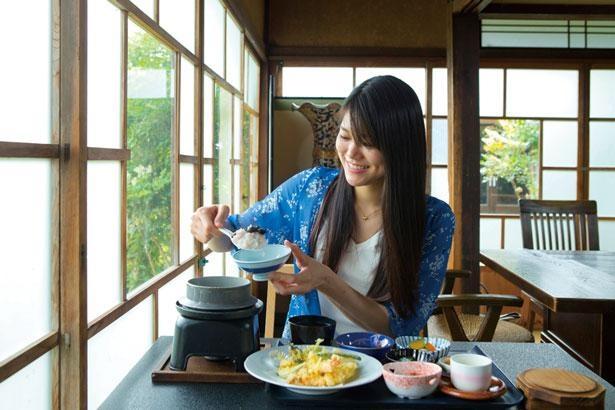 ご飯は一つ一つ釜で炊くので、注文してから20分ほどかかる。土日祝などは予約がオススメ/百翔茶屋 喜古里
