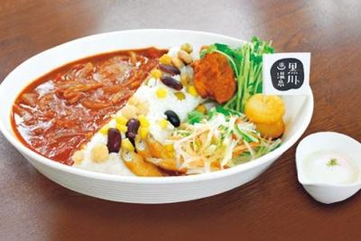館内にある食事処では、黒川ダムをイメージしたダムハヤシ(950円)などが味わえる/黒川温泉 美人の湯