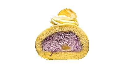 【奈良】奈良県産の米・ヒノヒカリを使用。紫イモやサツマイモなど、使用する素材はすべて奈良県産!「おいもとお芋のロール」