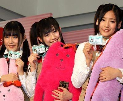 多田愛佳さん、渡辺麻友さん、仲川遥香さん(左から)