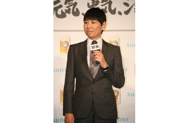 【写真】サントリー「ジョッキ生」新CM発表会に登場した和田アキ子。CMソング「ff(フォルティシモ)」も和田が歌っている