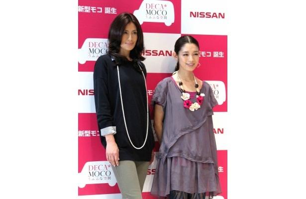 イベントに登場した長谷川理恵、一井沙織(写真左から)