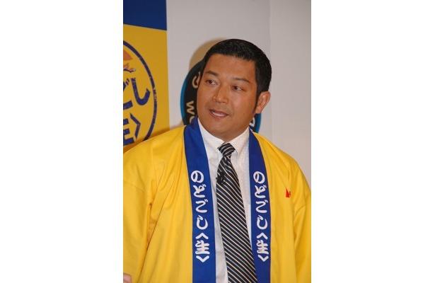 すっかり黄色いハッピ姿がおなじみになった山口さん