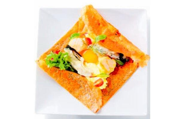 【写真】北海道食材を使った「ガレット」も美味♪