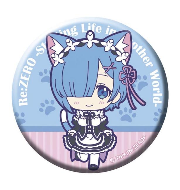 Re:ゼロから始める 異世界生活  缶バッジ+Crane 猫まみれver.(1プレイ各200円・全10種) / 九州アニメデッキ(SAKURA MACHI Kumamoto)
