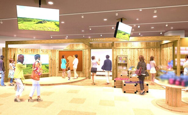 2Fのコンコースに面した場所に開設 / くまモンビレッジ(SAKURA MACHI Kumamoto) ※画像はイメージです。イメージ図は計画により内容が変更になる場合があります。