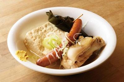 沖縄おでん3種盛り(480円)。豚足(テビチ)などお好みの具を選んで/大衆酒場 スタンド ミルクホール