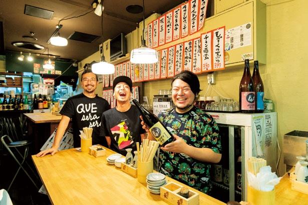 鶏ホルモンは、堀江の人気店「やきとりチョップ」の店主ガンちゃんの指導を受けた浦川貴史店長が腕を振るう/OSAKA バンザイ酒蔵