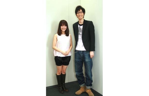 みひろ(写真左)と「蹴られる男編」主演の永岡卓也(同右)
