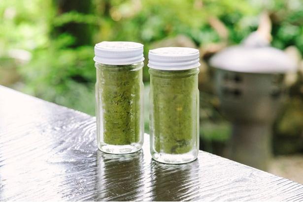 おみやげに人気の自家製の柚子胡椒(420円) / 会席手打ち蕎麦 京や