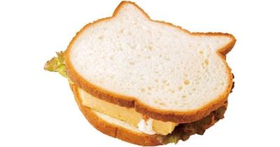 朝の人気ベスト3。いろねこサンドウィッチ(350円)/ベーカリー&カフェ ブルージン
