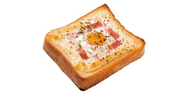 朝の人気ベスト3。エッグトースト(210円)/カンテグランデ ベーカリー