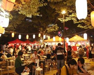千年夜市 in キャナルナイトパーキング / 千年夜市が新しく期間限定のナイトマーケットを開催