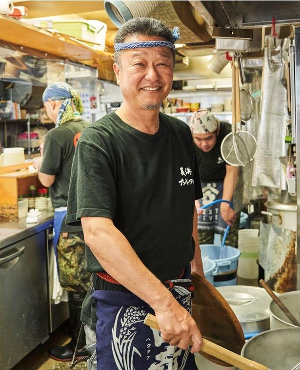 長浜ナンバーワン 祇園店 / 店主の種村剛生(たけお)さん。竹中氏の志を継ぎ、祇園の地にて「長浜ナンバーワン」をオープン