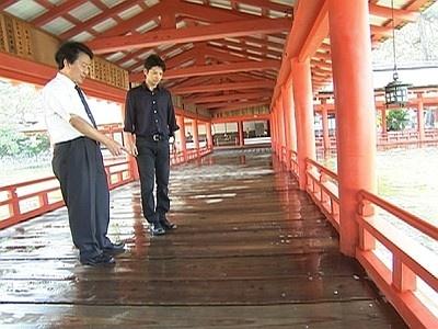 広島大学・三浦正幸教授に冠水した厳島神社の話を聞く