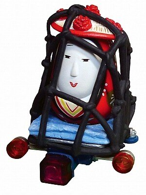 原付西日本シリーズに登場した「荷台の姫だるま」
