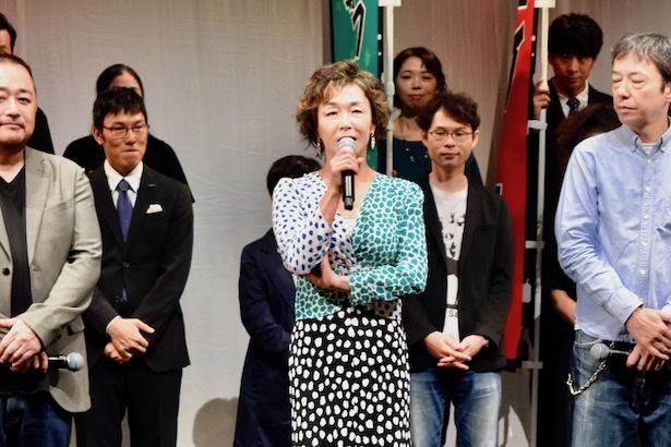 関西演劇祭実行委員長のキムラ緑子