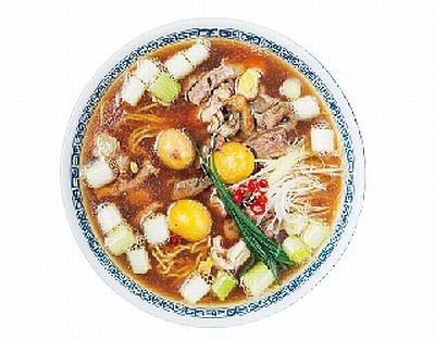 「徒歩徒歩亭」の「鶏臓麺(ド醤油味)」(900円)