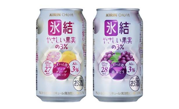 ピンクグレープフルーツや、赤ぶどうのストレート果汁が入って、なおかつ低カロリーという、女性のニーズをとことん汲み取ったキリンの新「氷結」シリーズが登場
