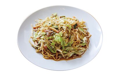 光楽園 / 「皿うどん」(702円)。ダシを麺に染み込ませた柔らか麺が特徴