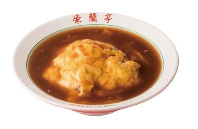 栄蘭亭 / たっぷりのあんがかかった「天津丼」(700円)。昼も夜も一番人気のメニュー