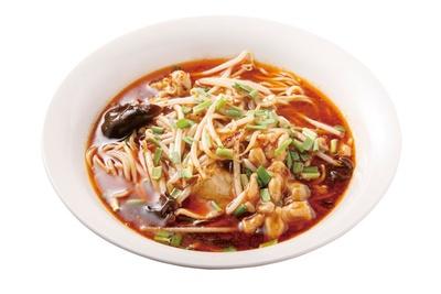China房 高家 / 「サンラータン麺」(770円)。自家製ラー油がポイント。お得なランチセット(750円)もある