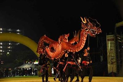 歴代の王統時代の様子をテーマにした演武の中の龍神の舞