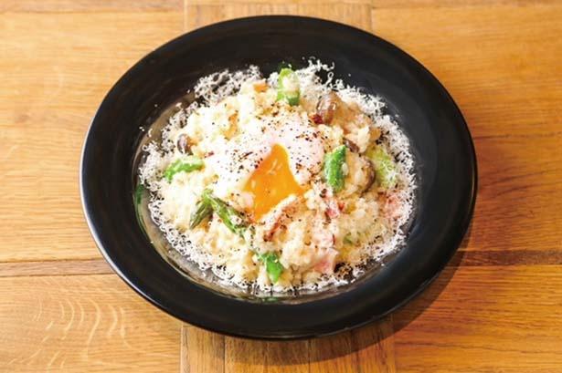 「お米料理 リゾット☆スター」のカルボナーラリゾット(980円)/UMEDA FOOD HALL