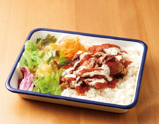 「NY DELI STYLE」のチキンオーバーライス(780円)UMEDA FOOD HALL