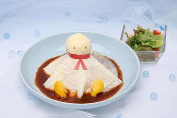 期間限定「天気の子カフェ」で提供する「てるてるオムライス」(税抜1490円)