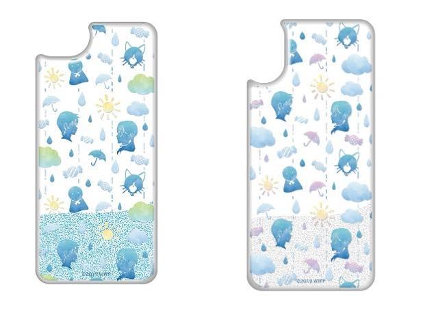 「キラキラ雨ふりスマートフォンケース (7/8用、X用の全2種)」(各税抜3900円)