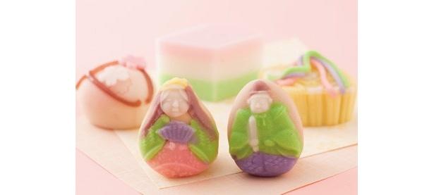 「菓匠 菊家」の「雛祭りセット」(5個、2200円) ※発売中~3月3日(木)まで